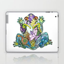 A Frogs Inner Beauty, find the Dove, Snake, Fish and Butterfly Within Laptop & iPad Skin