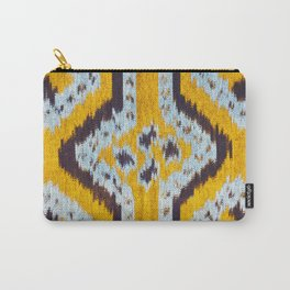 Yellow Ikat Print Carry-All Pouch