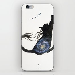 Spiral Galaxy Cat iPhone Skin