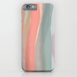 Peachy Watercolor iPhone Case