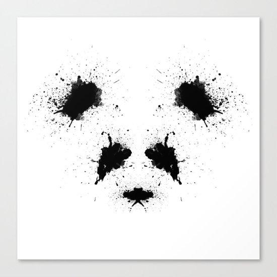 Rorshach Panda Canvas Print