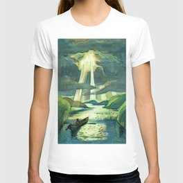 Rays of Sunlight Pouring through the Clouds landscape painting by Hermann Max Pechstein T-shirt