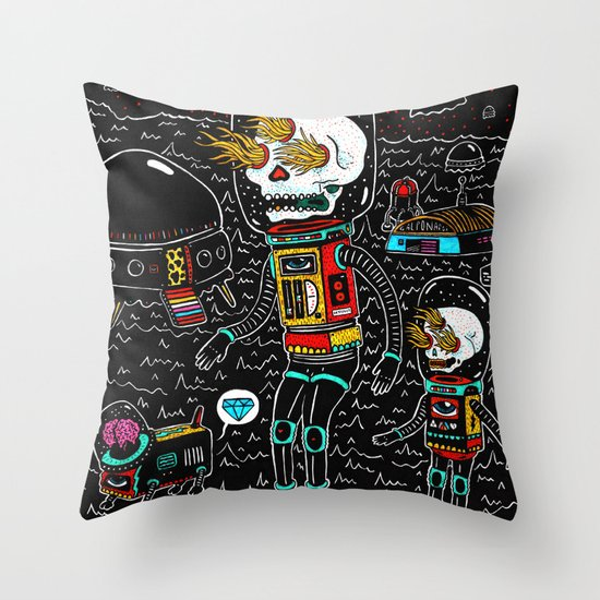 denrobot Throw Pillow