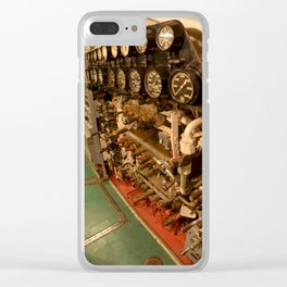 The USS Batfish SS-310 - In the Pump Room, below the Conning Tower Clear iPhone Case