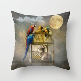 Free for now Throw Pillow