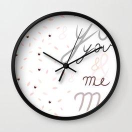 u&m Wall Clock