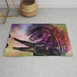 Colourful Sketched Horse Rug