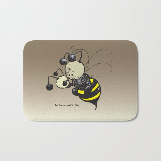 to Bee or not to Bee Bath Mat