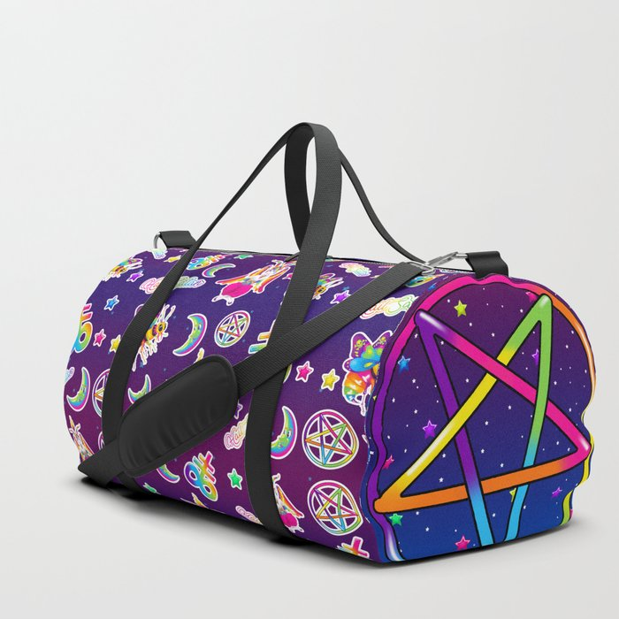 1997 Neon Rainbow Occult Sticker Collection Duffle Bag