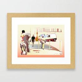 Passersby Framed Art Print