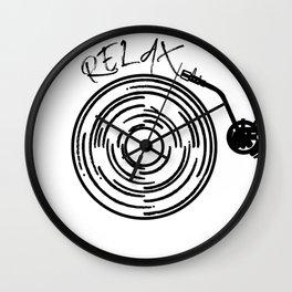 Music lover, hipster, retro vinyl Wall Clock