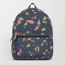 Blue Terrazzo and Gold Backpack