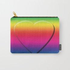 One Heart Rainbow Carry-All Pouch