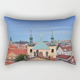 View of colorful old town in Prague Rectangular Pillow