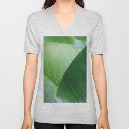 Big Banana Leaves green Unisex V-Neck