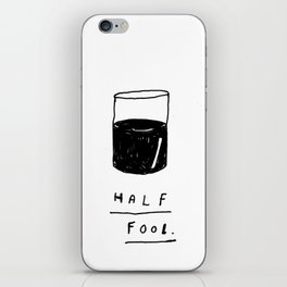 HALF FOOL iPhone Skin