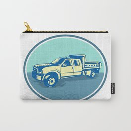 Tipper Pick-up Truck Oval Woodcut Carry-All Pouch