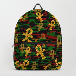 Red Black Green Ankh Backpack