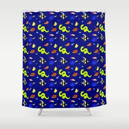 Sleeping with the fishes Shower Curtain