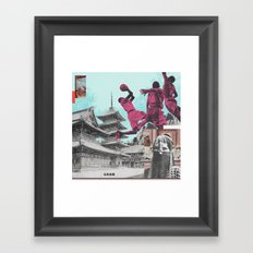 The Continued Search For God (I Have So Many Points) Framed Art Print