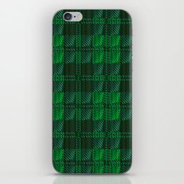 Dark Green Tartan iPhone Skin