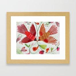 Cardinal Duo II Framed Art Print