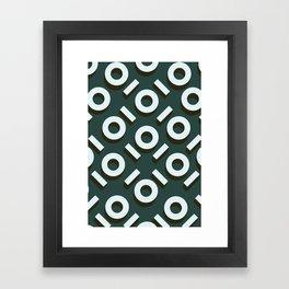 Teal Keyhole Pattern II Framed Art Print