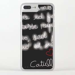 Latin Poetry Clear iPhone Case
