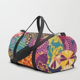 Japanese Wave Seigaiha Seamless Patterns Symbols Duffle Bag