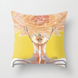 RAINFLOWER_Ego4_Blossom(2017) Throw Pillow