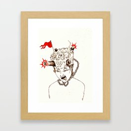 Help! I've got a fort on ma head! Framed Art Print