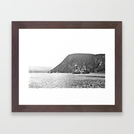 19th Century Steamboats, Anthony's Nose, Lake George Framed Art Print