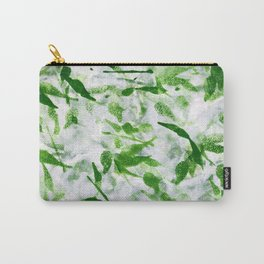 Green Abstract Pattern Carry-All Pouch