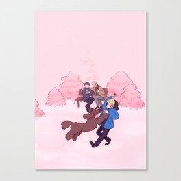 Rose Winter Canvas Print