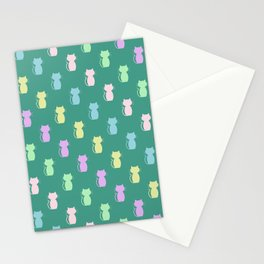 A Lot of Cats G/Y/P/B Stationery Cards