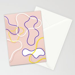 Connecting Organic Lines on Blush Stationery Cards