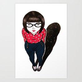 mini miss Art Print