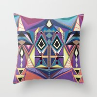totem Throw Pillows featuring Totem by Naia Ceschin