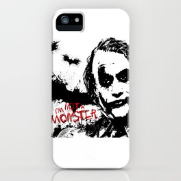 I'm not a monster! iPhone Case
