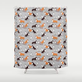 Origami Collie doggie friends Shower Curtain