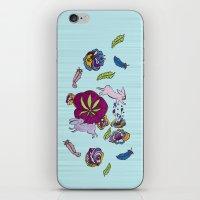 cannabis iPhone & iPod Skins featuring Cannabis Bunnies by Ri 13