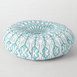 Aqua mandala Floor Pillow