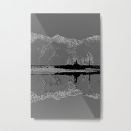 Knik River Mts. Pop Art - 3 Metal Print