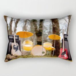 If a band plays in the forest ...... Rectangular Pillow