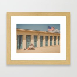This is my spot...(retro) Framed Art Print