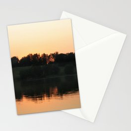 Summer sunset over the lake | Landscape photography Stationery Cards