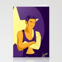 workout Stationery Cards featuring The Workout Soldier by curiositykilled