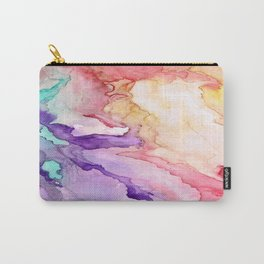 Color My World Watercolor Abstract Painting Carry-All Pouch
