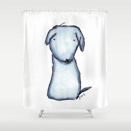 Puppy Blue Shower Curtain