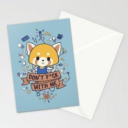 Little but Tough // Cute & Aggresive Red Panda, Aggretsuko, Kawaii Metal Stationery Cards